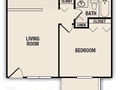 1bed 1bath floor plan